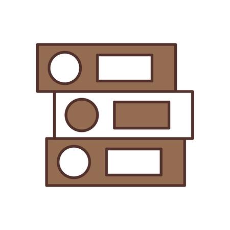 白い背景のベクトル図を office バインダー フォルダー ファイル オブジェクトを閉じてください。  イラスト・ベクター素材