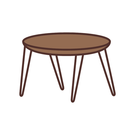 wooden round table furniture decoration vector illustration 向量圖像