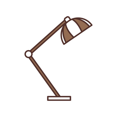 desk lamp light furniture electric icon vector illustration