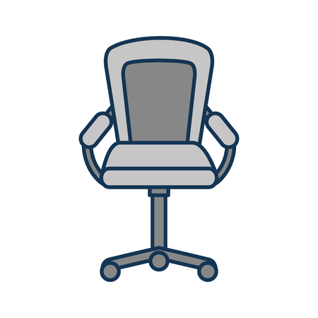 furniture armchair office wheel equipment vector illustration