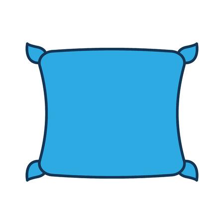 comfortabele kussen slaapkamer doek vectorillustratie