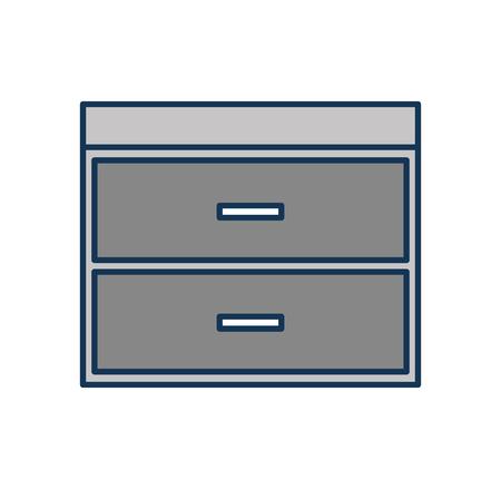 Commode de tiroirs meubles style moderne de vecteur de livre illustration Banque d'images - 85616950