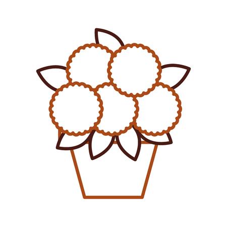 Potted flower decoration natural indoor illustration Illustration