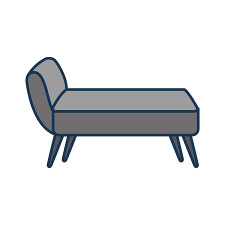 boudoir: sofa divan or couch elegant furniture icon style interior vector illustration