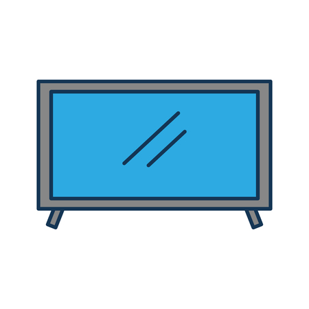 television plasma technology device object vector illustration Çizim