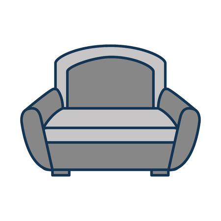 ソファ家具インテリア快適要素ベクトル図