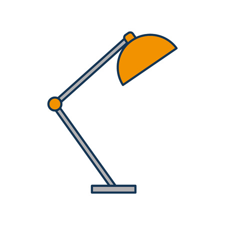 デスク ランプ光家具電気アイコン ベクトル図  イラスト・ベクター素材