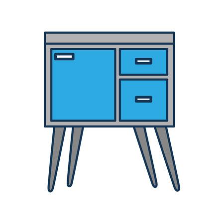 テーブルの引き出し家具室内装飾デザイン要素ベクトル図