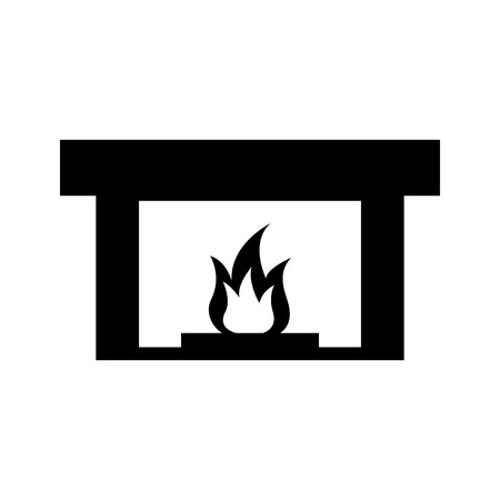 Kamin Schornstein Flamme Innendekoration Vektor-Illustration Standard-Bild - 85617543