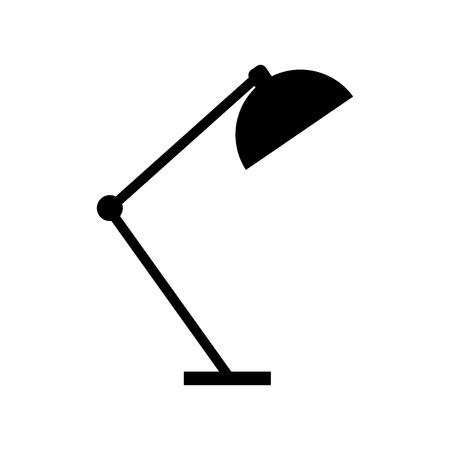 卓上ランプライト家具電気アイコンベクトルイラスト  イラスト・ベクター素材