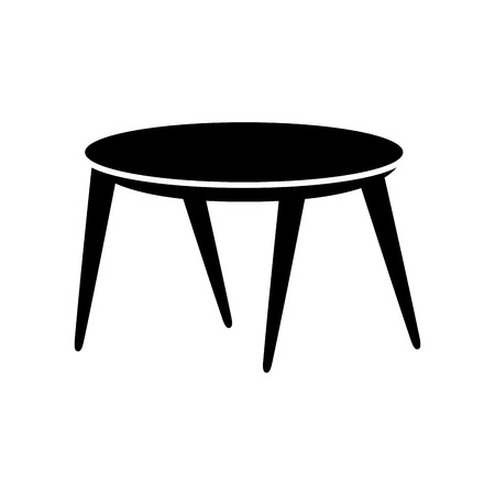 wooden round table furniture decoration vector illustration 向量圖像