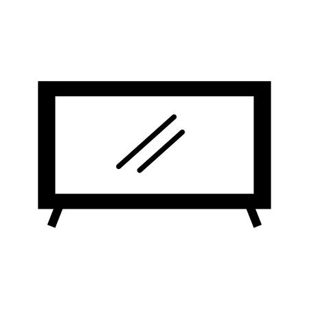 텔레비전 플라즈마 기술 장치 개체 벡터 일러스트 레이션 일러스트