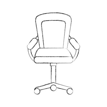 furniture armchair office wheel equipment vector illustration