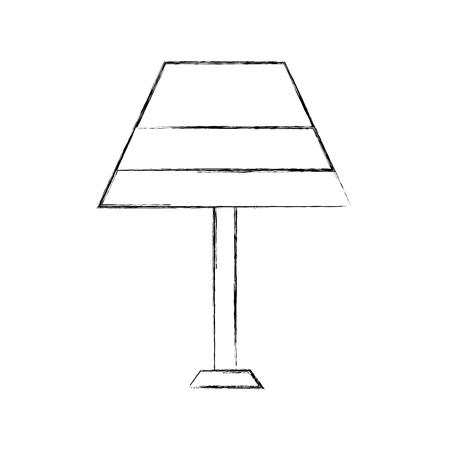 lamp furniture light electric decoration equipment vector illustration