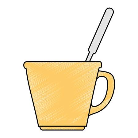 porcelain well with cutlery vector illustration design Ilustração