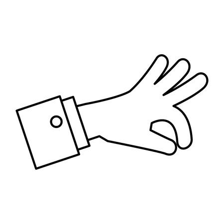 Menselijke hand vangen pictogram vector illustratie ontwerp Stockfoto - 85656596