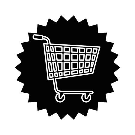 shopping cart seal icon vector illustration design Illustration