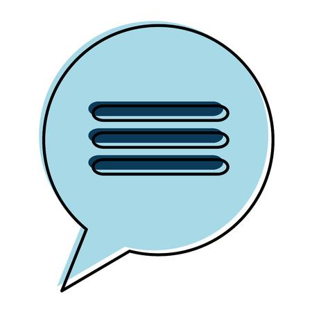 communication cartoon: speech bubble isolated icon vector illustration design