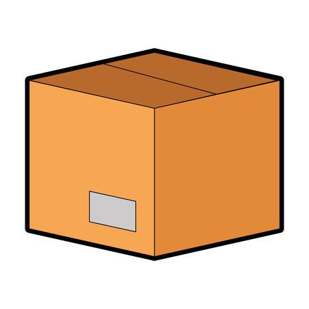ボックスカートン分離アイコンベクトルイラストデザイン