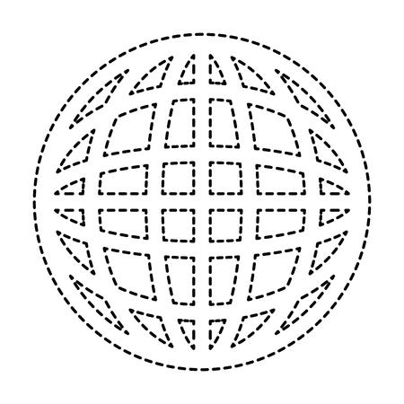 惑星球分離アイコンベクトルイラストデザイン  イラスト・ベクター素材