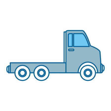 delivery service: delivery truck isolated icon vector illustration design