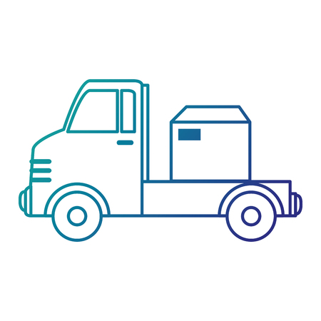 delivery service: delivery truck with boxes vector illustration design