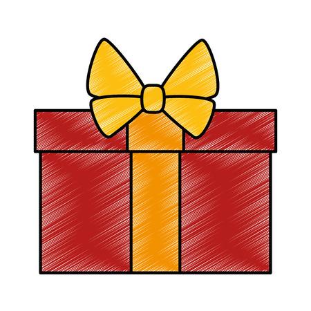 holiday shopping: gift box present icon vector illustration design Illustration