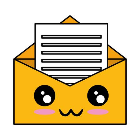 mail envelope character vector illustration design Illustration