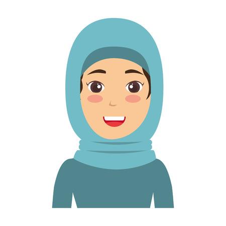 イスラム教徒の女性アバターの文字ベクトル イラスト デザイン  イラスト・ベクター素材
