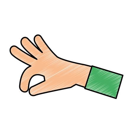 Menselijke hand vangen pictogram vector illustratie ontwerp Stockfoto - 85660686