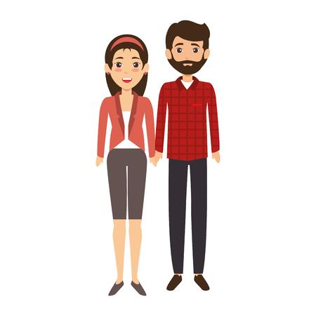 couple of business people vector illustration design Stok Fotoğraf - 85660688