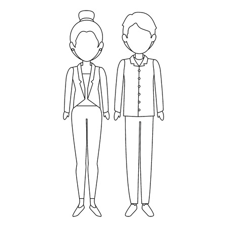 couple of business people vector illustration design Stok Fotoğraf - 85660764