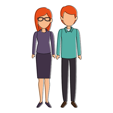 couple of business people vector illustration design Stok Fotoğraf - 85660798