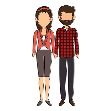 couple of business people vector illustration design Stok Fotoğraf - 85660799