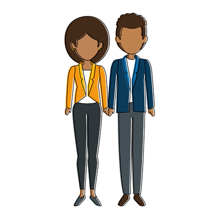 couple of business people vector illustration design Stok Fotoğraf - 85660867