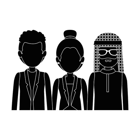 group of business people vector illustration design