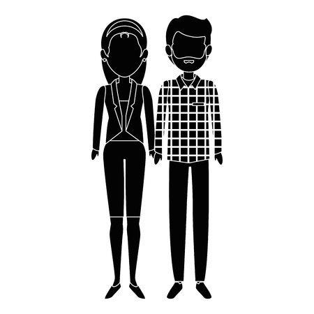couple of business people vector illustration design Stok Fotoğraf - 85660917