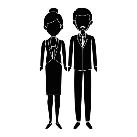 couple of business people vector illustration design Imagens - 85660948