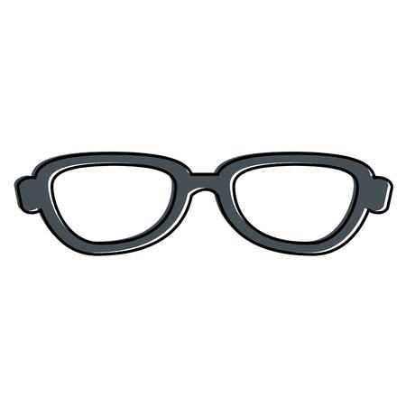 Het pictogramontwerp van oogglazen geïsoleerd pictogram Stockfoto - 85661028