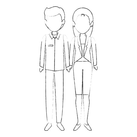 couple of business people vector illustration design Stok Fotoğraf - 85661052