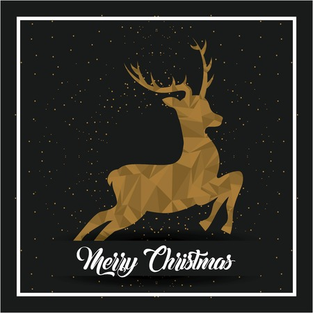 merry christmas lettering decoration card design vector illustration