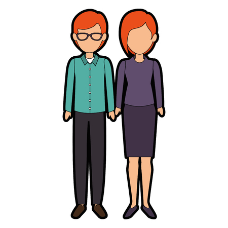 couple of business people vector illustration design