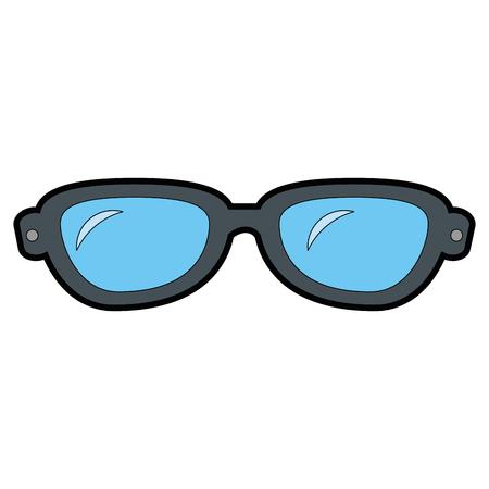 Het pictogramontwerp van oogglazen geïsoleerd pictogram Stockfoto - 85661983