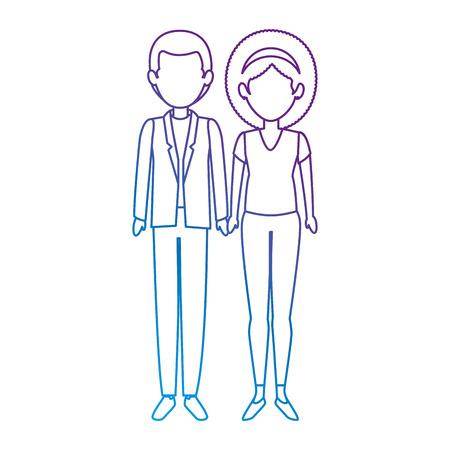 couple of business people vector illustration design Stok Fotoğraf - 85662047