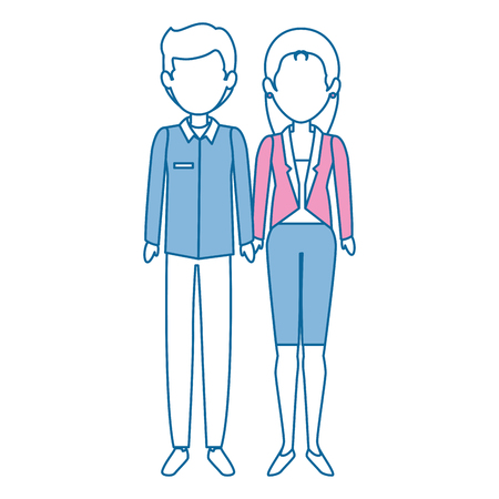couple of business people vector illustration design Stok Fotoğraf - 85662090