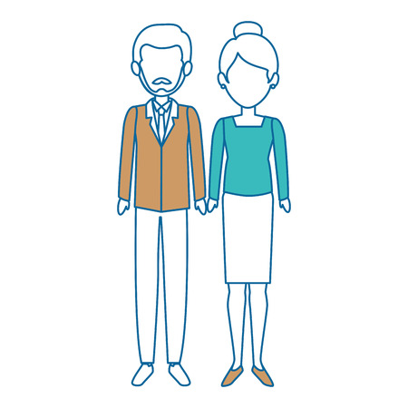 couple of business people vector illustration design Stok Fotoğraf - 85662095