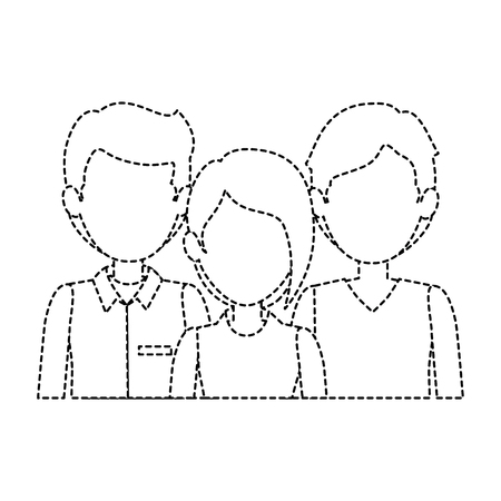guy standing: group of business people vector illustration design