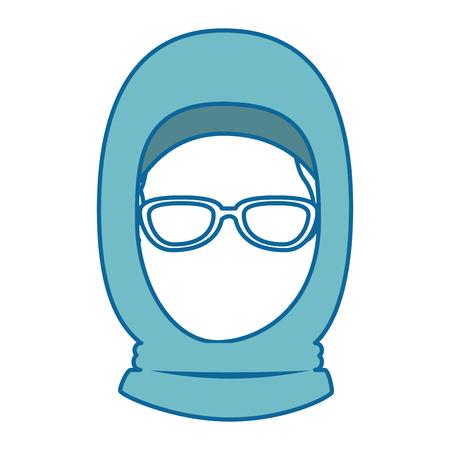 muslim woman avatar character vector illustration design