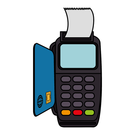 voucher machine with credit card vector illustration design