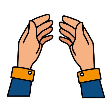Menselijke hand vangen pictogram vector illustratie ontwerp Stockfoto - 85687477